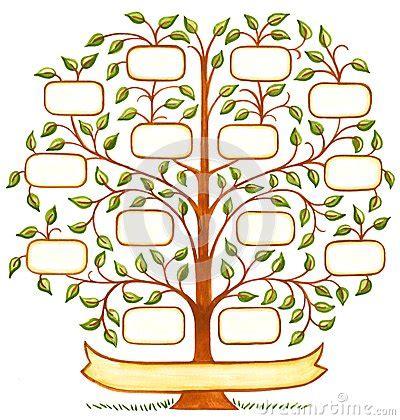 handpainted family tree stock illustration image