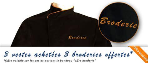 veste de cuisine homme brodé veste de cuisine personnalisée brodée broderie