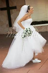 Style sneakers on a wedding dress for Wedding dress with sneakers
