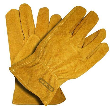 Cowhide Leather Gloves by Stanley Medium Split Cowhide Leather Gloves 2 Pack