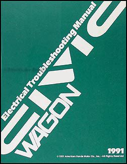 Honda Civic Wagon Repair Shop Manual Original