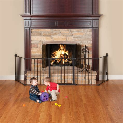 fireplace baby gate kidco auto hearth gate black baby gates at hayneedle