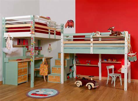 lit avec bureau intégré lits mezzanines modulable