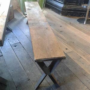 Banc Metal Bois : banc m tal et vieux bois possibilit sur mesure bca mat riaux ~ Teatrodelosmanantiales.com Idées de Décoration