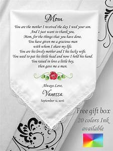 mother in law wedding gift wedding handkerchief to mother With gift for daughter in law on wedding day