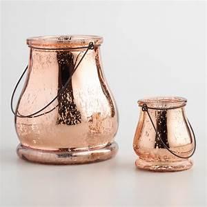 Rose Gold Mercury Glass Teardrop Lantern World Market