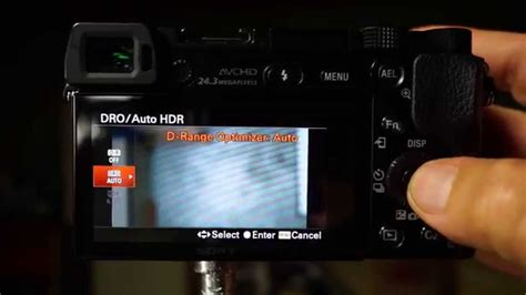 dynamic range optimization on sony cameras a6000 a7 a7r how to