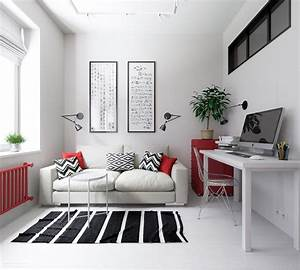 3, Small, Apartments, That, Rock, Uncommon, Color, Schemes, With, Floor, Plans