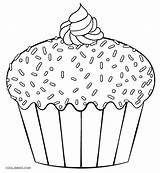 Cupcake Coloring Cupcakes Pages Printable Print Template Cake Cakes Cool2bkids Colouring Sheets Children Giant Yummy Dibujo Muffin Templates Easy Cookies sketch template