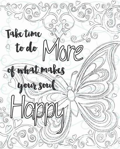 Coloring Inspirational Pages Adult Adults Printable Motivational