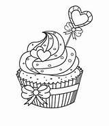 Cupcake Coloring Malvorlage Ausmalbilder Ausmalen Malvorlagen Zum Cupcakes Mal Ausmalbildervorlagen Gemerkt sketch template