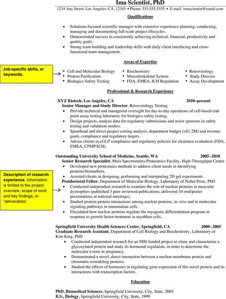 Convert Academic C V To Resume by How To Convert Your Academic Science Cv Into A Resume