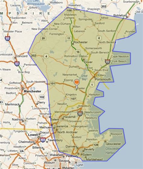 Map Of Southern New Hampshire Maping Resources