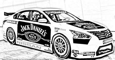 V8 Supercars Coloring Pages