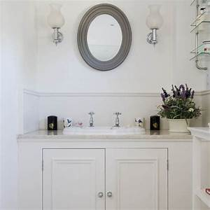 bathroom country house tour 25 beautiful homes With water resistant wainscoting for bathroom