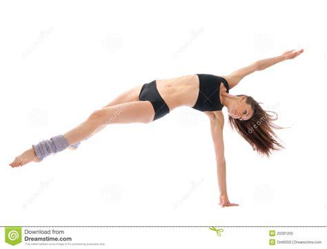 danse mince de danseur de ballet moderne de jazz photo