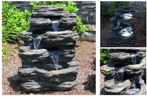 chic solar yard fountains 15 self contained water features