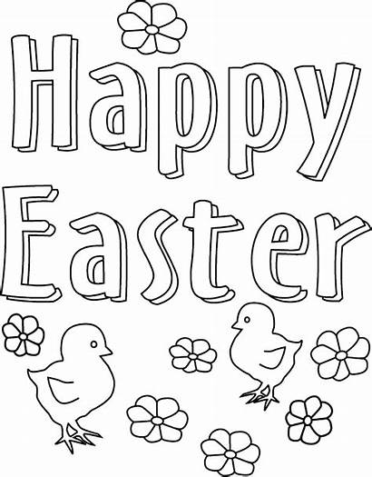 Easter Coloring Happy Printable Pages Christian Colouring