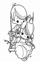 Coloring Pages Precious Moments sketch template