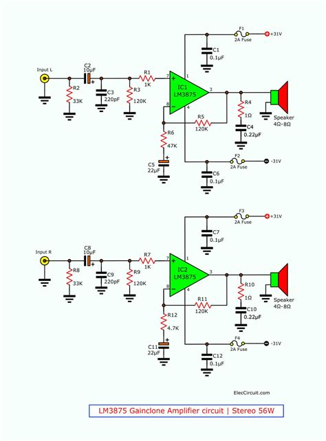Gainclone Amplifier Circuit Stereo Using