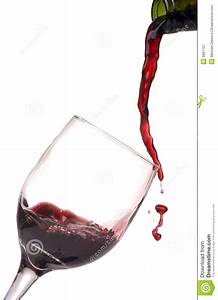Pouring Wine Into Glass On White Royalty Free Stock ...