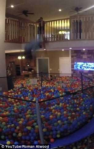 roman atwood turns  house   giant ball pit daily