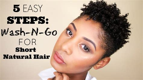 How To Wash & Go For Short Natural Hair
