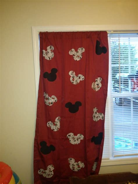 mickey mouse curtains for colton s room mickey minnie