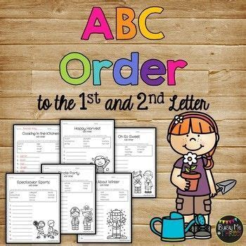 abc order worksheets alphabetical order pages  st