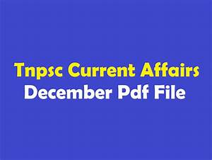 Tnpsc Tamil Current Affairs December 2017 Pdf Tamil ...
