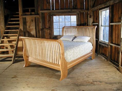 vermont sleigh bed  brooksidewoodworking  etsy