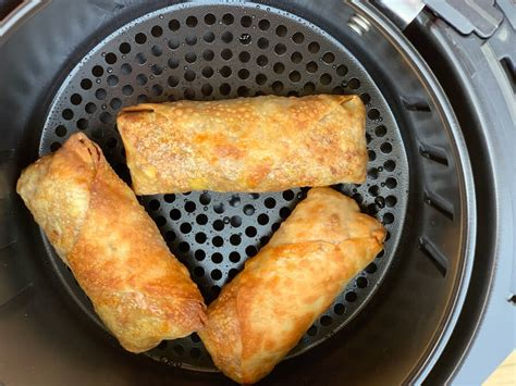 egg rolls air fryer homemade cooking cook crispy golden timer assembling handy batches tip while still start