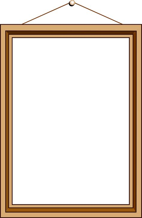 Picture Frame Clipart Picture Frame Free Stock Photo Illustration Of A Blank