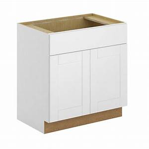 hampton bay princeton shaker assembled 30x345x24 in sink With home depot white kitchen cabinets 2
