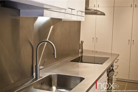 plan de travail cuisine sur mesure inox fr tous les éléments de cuisine