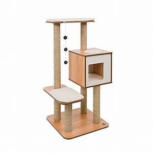 Arbre A Chaton : arbre a chat vesper v base haute noyer ~ Premium-room.com Idées de Décoration