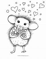Mouse Coloring Pages Colouring Valentine Mighty Printable Getcolorings Dy Nights Inky Five Trending Valentines Days Last Pets sketch template