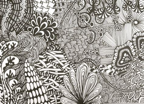 easy zentangle patterns black zentangle drawing