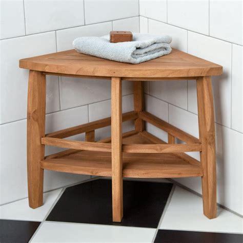 teak corner shower seat  shelf shower seats