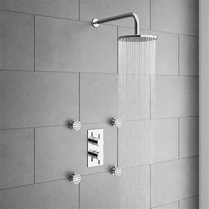 Cruze Concealed Thermostatic Valve With Diverter  Fixed