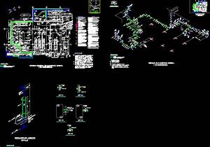 Normal and emergency lighting deck dwg block for autocad