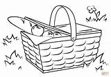 Picnic Basket Coloring Drawing Blanket Pages Printable Drawings Crafts Vegetables sketch template