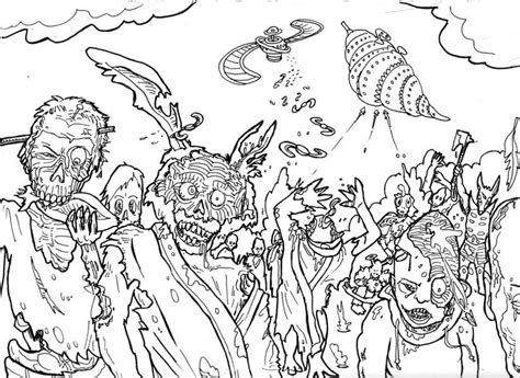 scary zombie coloring pages   clip art