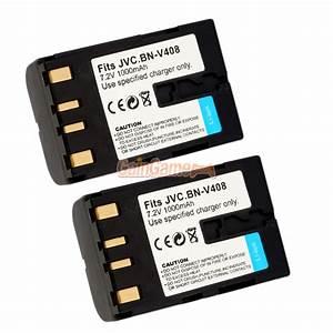 2x Battery For Jvc Bn