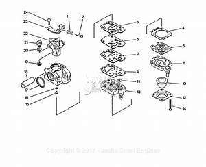 Echo Srm-2502 S  N  0010201 - 0025000 Parts Diagram For Carburetor
