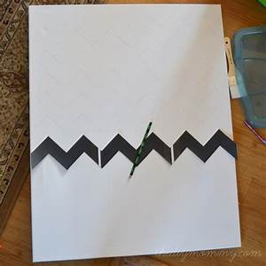 Make chevron sticker quote wall art the diy mommy