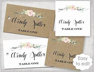 rustic name card template quotrustic flowersquot blush pink With wedding name plate template
