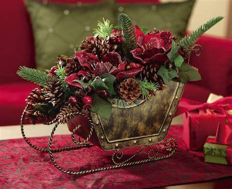 rustic christmas floral sleigh centerpiece decoration ebay