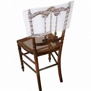 Un Dossier De Chaise : housse dossier de chaise dentelle blanche les 2 d co de ~ Premium-room.com Idées de Décoration