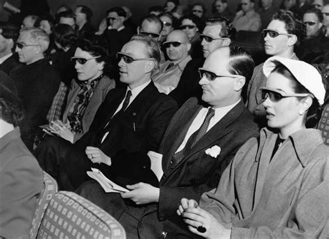 Audience Watches 3 D Movie Inventions Communication
